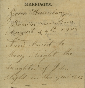 Brown_JohnDusenbury_FamilyBible_Marriages_crop