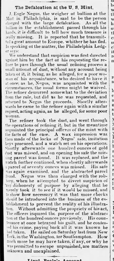 Negus_James_Engle_theft_Arkansas_Washington_Telegraph_Wed__Jun_21__1854_